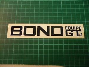 BOND Equipe GT4S Stickers (Pair) Restoration
