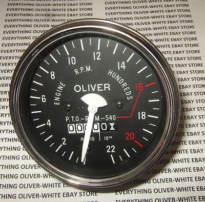 Oliver 550 Super 55 Tractor Tachometer Hour Meter Gauge