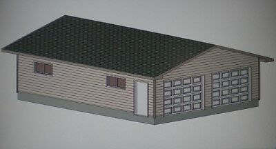 24 X 32 Garage Shop Plans Materials List Blueprints