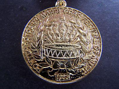 1984-Ponchatrain-Bronze-Band-Badge-Mardi-Gras-Doubloon