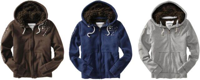 Aeropostale men Fur hoodie jacket coat  XS,S,M,L,XL,2XL