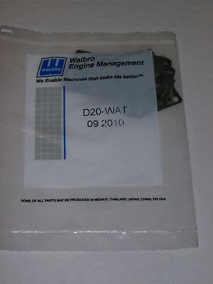 Genuine Walbro Carburetor Gasket Kit D20-wat