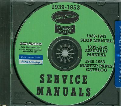 39 40 41 45 46 47 Ford Tractor Manual Sm/am/parts On Cd