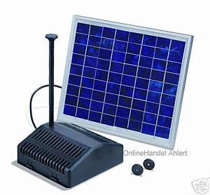solarpumpe teichpumpe teiche bachl ufe und brunnen ebay. Black Bedroom Furniture Sets. Home Design Ideas