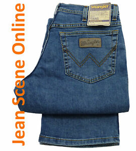 Mens-Wrangler-Texas-Stretch-Denim-Jeans-Stonewash-Blue