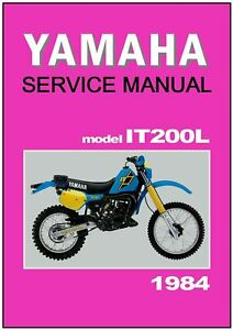 yamaha workshop manual it200 it200l 1984 maintenance. Black Bedroom Furniture Sets. Home Design Ideas