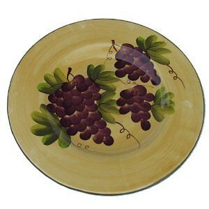 Tuscan grape large round serving platter Tuscany new