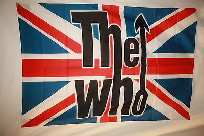 The Who Union Jack-Townsend Daltry Cloth Poster Flag Fabric Textile Tapestry-New