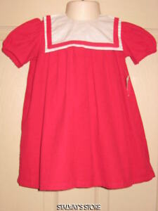 Details about baby crew red corduroy dress w collar 3 6 months nwt