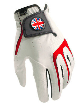 All Weather Mens Golf Glove - Union Jack Magnetic Ball Marker -