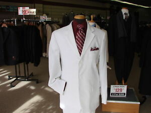 New-Arrival-for-Spring-100-Linen-Suit-in-White-size-42R