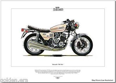 BENELLI 750 Sei - Superbike Fine Art Print - 6 Cylinder