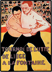 French-Vintage-POSTER-Stylish-Graphics-Art-Room-Bar-Decor-WRESTLING-122
