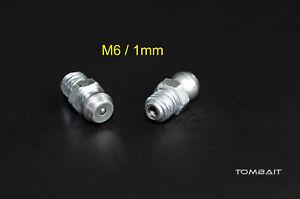 2-x-Assortimento-Ingrassatore-M6-1mm-dritto-Pistola-grasso-Grease-Capezzoli