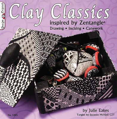 Clay Classics Inspired By Zentangle-polymer-cane-book-altered Art Craft Book