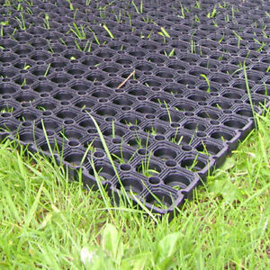 20 x Heavy Duty Rubber Grass Mat 15m x 1m Playground Garden