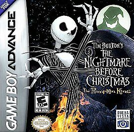 tim burtons the nightmare before christmas the pumpkin king nintendo game boy advance 2005 ebay - Tim Burtons The Nightmare Before Christmas