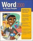 Word 2000 for Busy People by Christian Crumlish (Paperback, 1999)