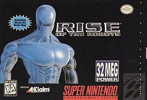 FREE-SHIPPING-SNES-RISE-OF-THE-ROBOTS-Super-Nintendo-1994-Cartridge-Only