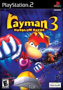 Rayman 3 Hoodlum Havoc - Jeu PS2 - France - État : Bon état: Objet ayant déj servi, mais qui est toujours en bon état. Le botier ou la pochette peut présenter des dommages mineurs, comme des éraflures, des rayures ou des fissures. Pour les CD, le livret et le texte arrire du botier s - France