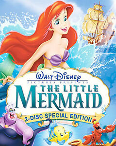 The-Little-Mermaid-Platinum-Edition-2-Disc-DVD-Set-In-Shrink-Wrap-W-Slip-Cover