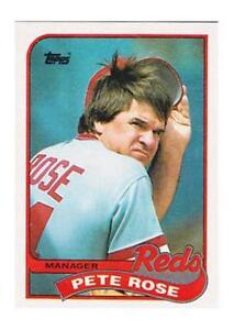 Details About 1989 Topps Pete Rose Cincinnati Reds 505 Baseball Card