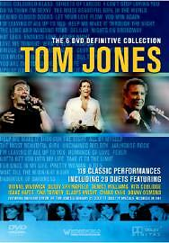 Tom Jones - The 6 Definitive Collection (DVD, 2004, 6-Disc Set, Box Set) VG 291
