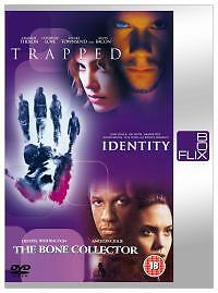 Trapped / Identity / The Bone Collector (DVD, 2004, 3-Disc Set, Box Set)