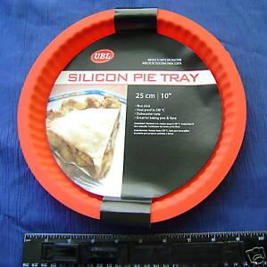 silikon 25cm rund obstkuchen pie backform nicht klebend rot ebay. Black Bedroom Furniture Sets. Home Design Ideas