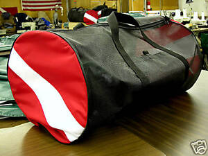 "ORIGINAL ""AIR-DRY"" DIVE FLAG SCUBA GEAR BAG. BLACK!! MADE IN THE USA"