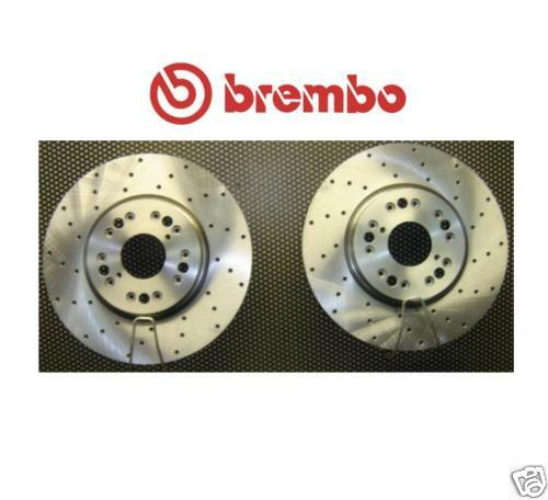 GS300 GS400 GS430 BREMBO FRONT DRILLED BRAKE DISCS X2