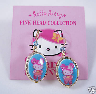Tarina Tarantino Pink Head Classic Drop Earrings Blue