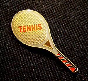 Collectible Tennis Racquet Lapel Tie Hat Pin Sport #Y1B