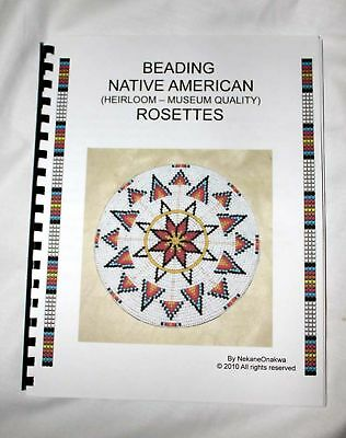 BEADWORK ROSETTE  AMERICAN   NATIVE BEADBOARD BEADING BOOK- HOW TO BEAD