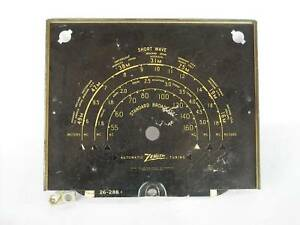 Vintage Zenith 26-288 Radio Tuning Dial Face