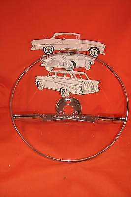 1957 Chevy Chrome Horn Ring Belair 210 Sedan Hardtop