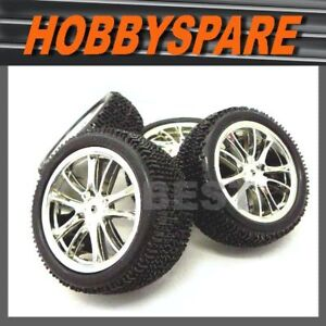 1-10-CHROME-BUGGY-WHEEL-TYRE-RC-GP-EP-TAMIYA-KYOSHO