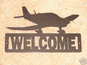 Http Www Ebay Com Itm Airplane Welcome Sign Home Decor Metal Cesna Aviation 190428928450