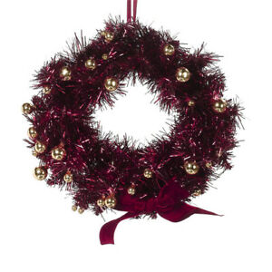 Deep-RED-Christmas-WREATH-Gold-Ornaments-12-Classic