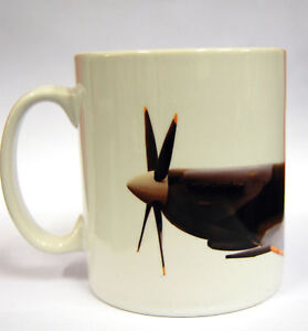 Spitfire-NEW-Mug-Plane-Gift-WW2-RAF-Fighter-Now-with-FREE-Coffee-Stencil