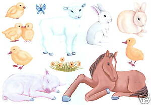 NURSERY ANIMALS CREATIVE WALL ART TRANSFER WALL DECOR TATOUAGE