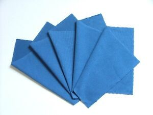 5 MicroFibre Camera Lens Glasses Cleaning Cloths blue