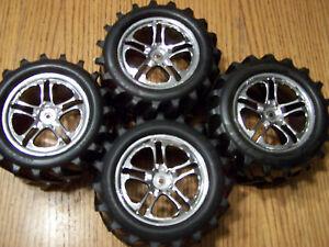 4-Traxxas-4910-T-maxx-Chevron-Tires-14mm-3-8-Wheels-Fit-3903-E-maxx-Revo-Tire