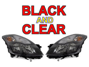 DEPO 2007-2009 NISSAN ALTIMA 4DR SEDAN & HYBRID JDM STYLE BLACK CLEAR HEADLIGHTS