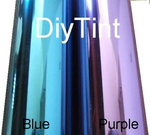Reflective Blue Window Glass Tinting Film, 38X60 dark