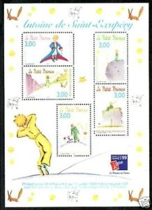 STAMP-TIMBRE-FRANCE-BLOC-N-20-SAINT-EXUPERY