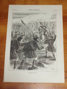 Print 135 yrs old Battle of Culloden 1746 (also available framed)