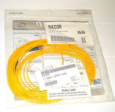 12 Siecor Gold Fiber Optic Cables Model 1fsfcfcupc