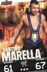 WWE Slam Attax Evolution Santino Marella Raw Card