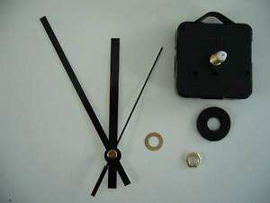 CLOCK-MOVEMENT-QUARTZ-LONG-SPINDLE-120mm-BLACK-HANDS